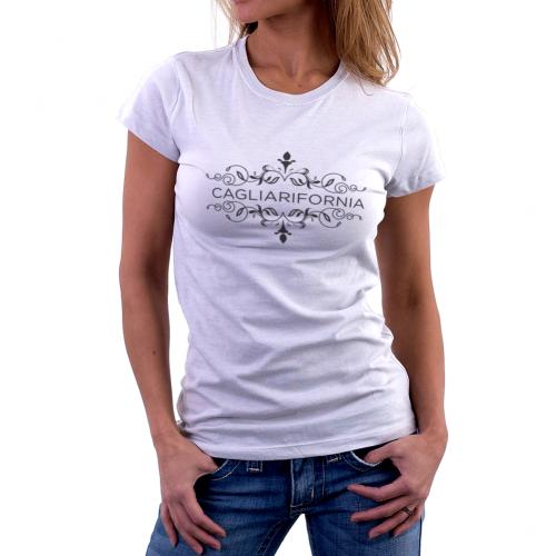 T-shirt manica corta Donna Cagliarifornia Floreal Bikerella