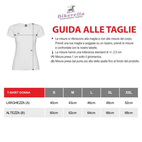 T-shirt manica corta Donna Polaroid Picasso Guernica Bikerella