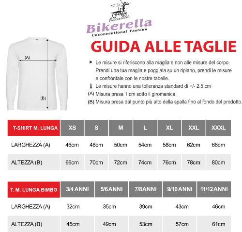T-Shirt manica lunga Unisex Vampiro Bikerella