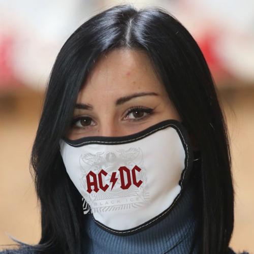 Mascherina in poliestere con bordo colorato AC DC Ice cover ip Bikerella