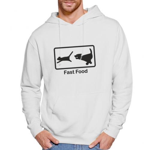 Felpa con cappuccio Unisex Fast Food Parody Bikerella