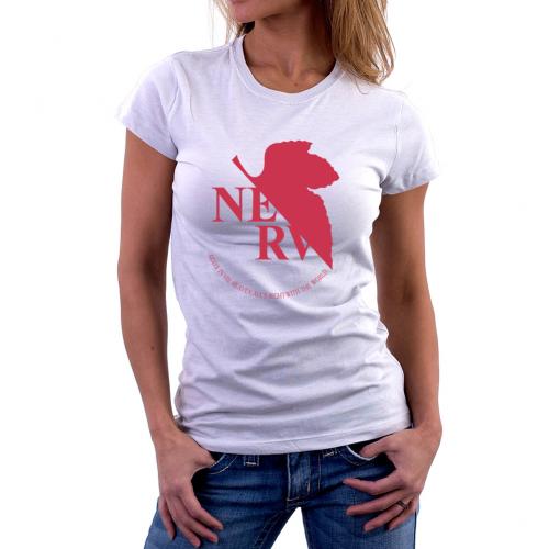 T-shirt poliestere manica corta Donna Neon Genesis Evangelion Logo Nerv Bikerella