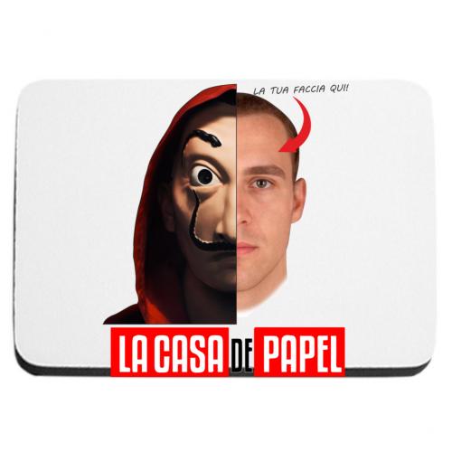 mouse-pad La Casa di Carta Maschera e tuo viso Bikerella